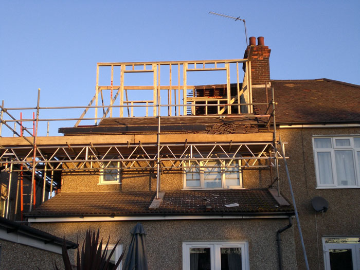 Work During Box Roof Conversion